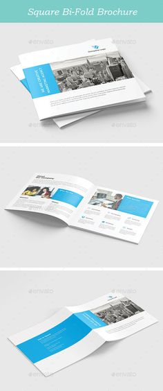 Square BiFold Template #print #report  • Download here → https://graphicriver.net/item/square-bifold-template/20717375?ref=pxcr