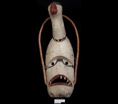 Goose mask | Museum of Natural and Cultural History Cinema Theatre, Wooden Walking Sticks, Carving Tools, Sacred Art, First Nations, Mask Design, Art World, Alaska, North America