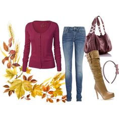 well.. I could never wear those boots. I'd switch them out for my cowboy boots any day. but I do like the top.