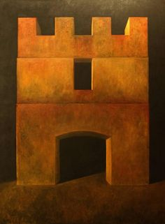 "For Sale on - ""Fortress XXXVII"" - Contemporary Realism - Arch - Georgio de Chirico, Canvas, Oil Paint by Edward Rice. Offered by Spalding Nix Fine Art. South Carolina Art, St Simons Island, Edward Hopper, Italian Artist, Art Museum, Rice, Fine Art, Contemporary, Canvas"