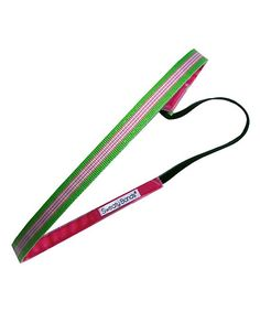 Green & Pink Sporty Stripe Headband