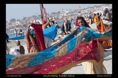 Cleaning clothes, cleaning souls.   At #KumbhMela 2013, #India.