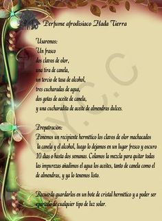 Trastos de Bruja: Perfume Afrodisiaco Hada Tierra Lush Shampoo Bar, Clara Berry, Handmade Diary, Verses About Love, Elf Magic, Halloween Books, Zodiac Mind, Love Spells, Medicinal Herbs