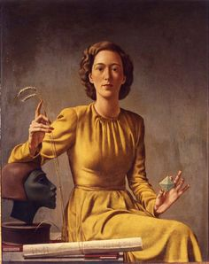 Victor Karl Hammer, portrait of Elizabeth Ker Schermerhorn, 1941. Via Wolfsonian–Florida International University