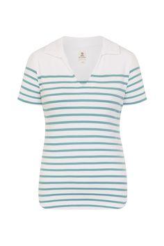Combinaison blanc orage du polo femme Lizaig  rayures  stripes   vetementsmarins  mousqueton   83e65ed68b7f