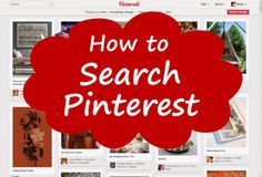 How to search on pinterest