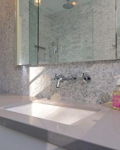 "Silestone ""Kensho"" Carrera Marble Bathing Beauty - modern - bathroom - sacramento - Kerrie L. Kelly"