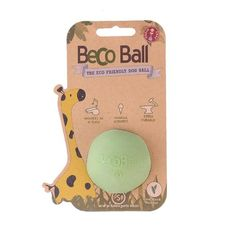 BecoThings Eco Friendly Treat and Chew Ball Green