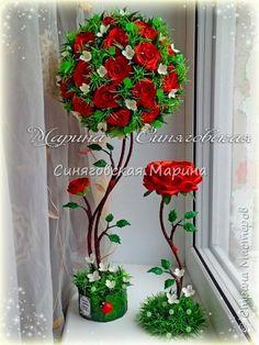 Здравствуйте! Увидела очень много интересных работ, захотелось поделиться и своими достижениями в творчестве!! В основном работаю с тканями, атласными лентами и холодным фарфором! фото 2 Paper Flower Wall, Paper Roses, Crochet Flowers, Fabric Flowers, Engagement Decorations, Topiary, Flower Crafts, Diy Room Decor, Orchids