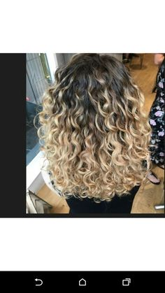 Naturally curly hair blonde ombre balayage By Reegan at Spring Hair salon, in Birmingham UK http://springisinthehair.com/