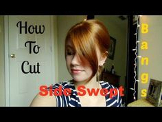 How To Cut Your Own Side Swept Bangs! - YouTube