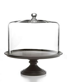 Martha Stewart Collection Serveware, Black Ceramic Cake Stand with Dome - Serveware - Dining & Entertaining - Macy's