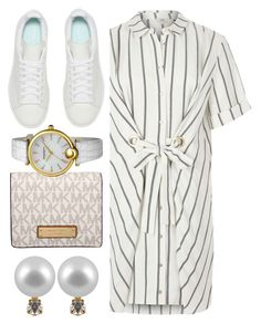 """Untitled #356"" by jomashop ❤ liked on Polyvore featuring Michael Kors, adidas Originals, Bruno Magli, River Island, white and whitesneakers"