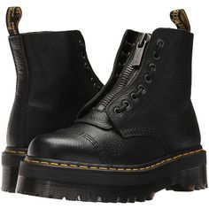 Dr. Martens Sinclair Jungle Boot (Black Aunt Sally) Women's Boots (11.935 RUB) ❤ liked on Polyvore featuring shoes, boots, leather military boots, laced boots, leather lace up boots, faux-fur boots and laced up boots