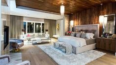 An exclusive guided tour through the unique and stunning bedrooms in Bryan and Sarah Baeumler& brand new country chic Ontario home, as seen in & of Bryan& Season Bedroom Night, Home Decor Bedroom, Bryan Baeumler House, Sarah Baeumler, Beautiful Bedrooms, Beautiful Homes, Stunningly Beautiful, Bedroom Photos, Custom Built Homes