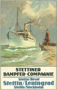 Stettiner Dampfer-Compagnie pamphlets on Maritime Timetables