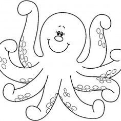 Cartoon Octopus Coloring Pages from Animal Coloring Pages category. Printable coloring pages for kids that you could print and color. Check out our collection and printing the coloring pages free of charge. Coloring Sheets For Kids, Cool Coloring Pages, Animal Coloring Pages, Coloring Pages To Print, Free Printable Coloring Pages, Templates Printable Free, Coloring Books, Children Coloring Pages, Octopus Coloring Page