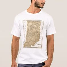Shop Indiana Atlas Map T-Shirt created by davidrumsey. Personalize it with photos & text or purchase as is! Indiana, Fitness Models, Tank Man, Map, Casual, Fabric, Sleeves, Cotton, Mens Tops