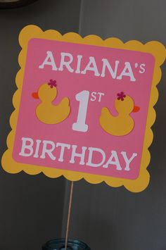 Rubber Duck Sign, Rubber Duck Buffet Sign, Rubber Duck Birthday, Duck Party Decorations. $12.00, via Etsy.