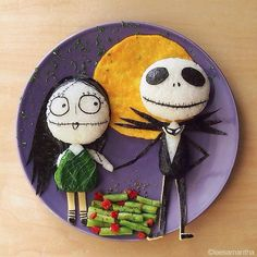 Comida divertida: Sally y Jack Skellington.