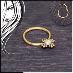 Inspiration Dezigns Pink Colorline Gem Grandiose Septum Ring