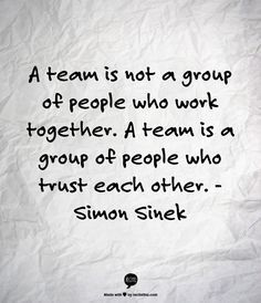 a team is not a group of people who work together - Bing Images