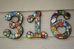 Custom Made Stained Glass Mosaic House Numbers - Wild & Funky Colors and Shapes. $23.00, via Etsy. by arlene