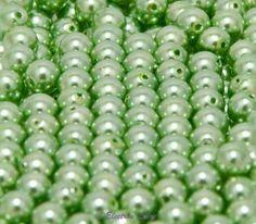 Perles nacrées péridot  : Autres Perles par l-electron-libre sur ALittleMercerie