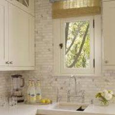 Whitewashed brick backsplash Calhoun Kitchen Pinterest
