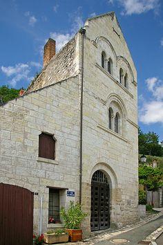 """La maison dite """"du Prêche"""". Montrichard (Loir-et-Cher)"""