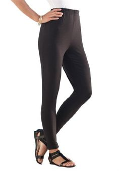 Roamans Women`s Plus Size Tall Essential Stretch Knit Ankle Length Leggings $27.25 (save $16.00)