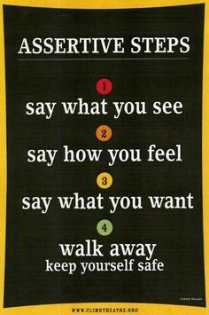 Assertive steps