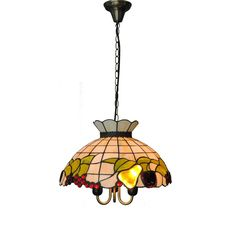 aef4fa021ba0 Tiffany Style Baroque Fruits Stained Glass Hanging Lamp 3 Lights European  Shell Pendant Light Bar Cafe Restaurant Lighting PL615
