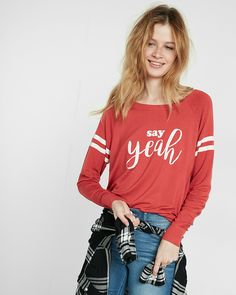 express one eleven say yeah graphic sweatshirt