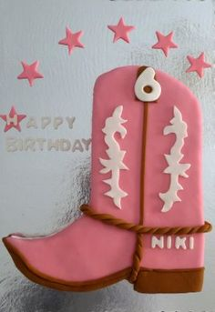 @Andrea Morgan cowgirl boot cake