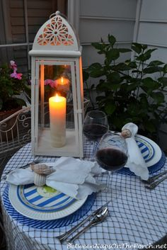 Nautical Tablescape by Candlelight 4