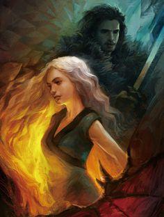 Fan Art of Game of Throne, Jungsun Lee on ArtStation at https://www.artstation.com/artwork/OwDgJ