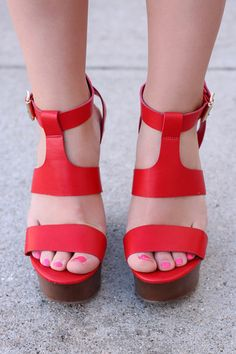 Red Wedges CHELSEY-01 | UOIOnline.com: Women's Clothing Boutique