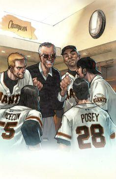 Stan Lee by Humberto Ramos, colours by Edgar Delgado *