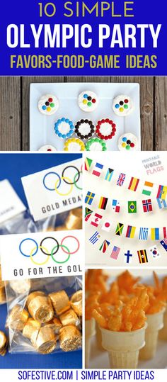10 Simple Olympic Party Ideas -Simple Party Ideas - So Festive! Informations About Olympic Party Ide Party Food Themes, Party Games, Birthday Party Themes, Party Favors, Party Ideas, Birthday Boys, 10th Birthday, Birthday Ideas, Gift Ideas
