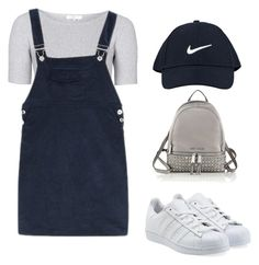 """Untitled #33"" by sohaila-el-m on Polyvore featuring NIKE, Topshop, adidas Originals and MICHAEL Michael Kors"