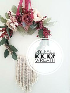 DIY: Fall Boho Hoop Wreath A Jacq of All Trades @a.jacqofalltrades By Jacqueline Clark