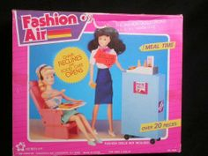 "Fashion Air Meal Time Playset for 11.5"" Fashion Dolls by Meritus, 1990's"