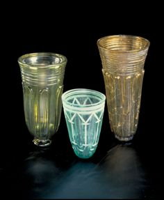 Luxurious engraved glass goblets from the Iron Age found in Larvik, Norway.