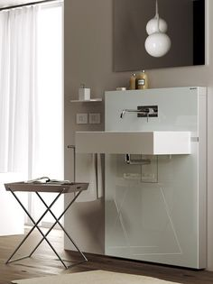 Sanitary module for #washbasin with drawers Monolith by Geberit Italia #bathroom