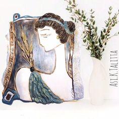 Demeter Goddess of prosperity &fertility-Elegant Fine Clay plaque lucky charm-wedding Gift-Ancient Greek Goddess-Titans-Greek olympians