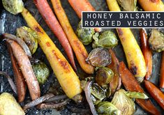 Honey Balsamic Roasted Veggies - Fit Foodie Finds