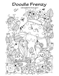 Doodle Frenzy Coloring Book For Grown Ups 2 Volume