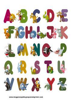 Abecedario En Ingles Con Animales Imagenes Y Dibujos Para Imprimir Alphabet Fonts Alphabet Alphabet Flashcards