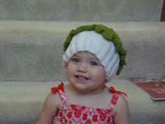 Cupcake Hat by JillnDee on Etsy, $15.00  I am a bit prejudice as this is my Granddaughter.